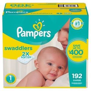 Pampers Swaddlers 198-Count Size 1 Pack Diapers